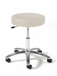 960 Series Physician Stool with Polished Aluminum Base [963-FS-INT]