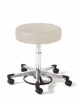 980 Series Physician Stool with Chrome Base with Toe Caps [982-FS-INT]