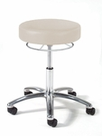990 Series Physician Stool with Polished Chrome Base [993-FS-INT]
