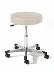 Physician Stool with Aluminum Base with Toe Caps [962-FS-INT]