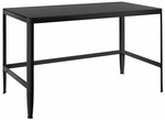 Pia Black Table with Black Glass [TB-CF-PIA-BK-BK-FS-LUMI]