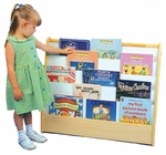 Double Sided Pick-A-Book 5 Shelf Stand with Write-N-Wipe Board and Cubby [ELR-083-ECR]