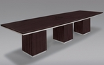 Pimlico 12' W Boat Top Conference Table - Mocha [7020-144-FS-DMI]