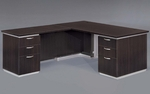 Pimlico Flat Pack 66'' W Left Executive L Desk - Mocha [7020-28FP-FS-DMI]