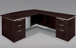 Pimlico Flat Pack 72'' W Bow Front Right Executive L Desk - Mocha [7020-47BFP-FS-DMI]