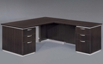 Pimlico Flat Pack 72'' W Right Executive L Desk - Mocha [7020-47FP-FS-DMI]