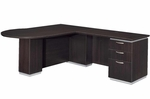 Pimlico Flat Pack Right Peninsula L Desk - Mocha [7020-45FP-FS-DMI]