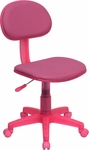 Pink Fabric Ergonomic Swivel Task Chair [BT-698-PINK-GG]