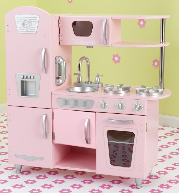 Kids Wooden Make-Believe Vintage Kitchen Play Set