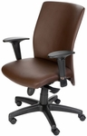 Pinnacle High Back Adjustable Leather Conference Chair - Brown [CEL-7120-B-TA-CACAO-FS-CPL]