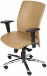 Pinnacle High Back Adjustable Leather Conference Chair - Tan [CEL-7120-B-TA-DUNE-FS-CPL]