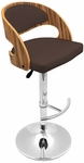 Pino Barstool in Zebra Wood and Brown [BS-JY-PN-ZB-BN-FS-LUMI]