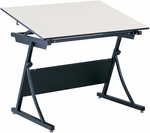 Plan Master 29.5'' H Adjustable Height Drafting Table Base - Black [3957-SAF]