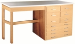 Planning & Layout Bench with 9-Drawer Locking Storage [PLB-201-SHA]