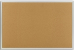 Plas-Cork Bulletin Board with Aluminum Trim - 24''H x 36''W [AP-203-MSH]