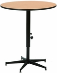 Plastic Laminate 24''Diameter Top Tri-Height Cocktail Table - 30-42''H [ACR24EF-MFT]
