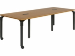 Plateau Library Series 36''W x 90''L Table with 2 Grommets and Two Twin-Wheel Casters [PT369029C2GR1-VCO]