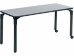Plateau Series 24''W x 60''L Rectangular Table with Two Twin-Wheel Casters [PT246029C2-VCO]