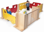 Design Your Own Play Space Set with Multiple Panels and Connectors [WB1110-FS-WBR]
