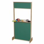 Play Stage with Chalkboard Top and Bottom - Assembled - 24''W x 3''D x 48''H [21600-WDD]