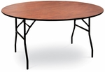 48'' Diameter Round Laminate Folding Table with Locking Wishbone Style Legs [70035L-MCC]