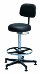 Pneumatic Lab Stool with Padded Backrest - 22.25 - 32.25''H [HAU-2160-FS-HAUS]
