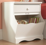 Pogo 23''W x 26''H Wooden Night Stand with Cubbyhole Storage - White [414433-FS-SRTA]