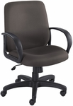 Poise® 27'' Dia x 37'' H Adjustable Height Executive Mid Back Seating - Black [6301BL-FS-SAF]