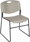 Zeng 31''H Armless Stackable Metal Frame Chair - Gray [4400GY-REG]