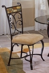 Pompeii Metal 19''H Dining Chair with Upholstered Seat - Set of 2 - Black Gold [4442-802-FS-HILL]