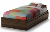 Popular Collection Twin Mates Bed (39'') Mocha