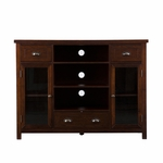 Porter 48''W x 36''H Gaming and Media Console with Adjustable Shelves and Storage Drawers - Espresso [MS5552-FS-SENT]