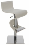 Portland Adjustable Stool in White [HGAR139-FS-NVO]