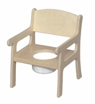 American Made Baltic Birch Classic Potty Chair - Unfinished [027-UNF-FS-LC]