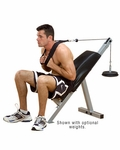 Powerline Crunch Board/AB Bench [PAB-21X-FS-BODY]