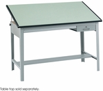 Precision 56.50'' W x 30.50'' D x 35.50'' H Drafting Table Base - Gray [3962GR-SAF]