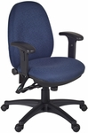 Precision Fully Adjustable Task Chair with Casters - Blue Fabric [2707-BE-FS-REG]