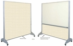 Premiere Room Divider in Markerboard & Fabricork Surfaces [1602G-CLA]