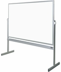Premiere Series Reversible Mobile Markerboard - Aluminum Frame [LCS55-CLA]