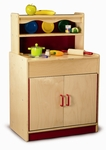 Preschool Hutch Birch Laminate Cabinet with Smooth Rounded Edges [WB0710-FS-WBR]