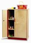 Preschool Refrigerator Cabinet with Pinch Resistant Hinges and Closed Storage [WB0750-FS-WBR]