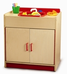 Preschool Sink Cabinet with Safe Pinch Resistant Hinges [WB0730-FS-WBR]
