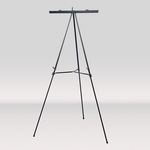 Multi Purpose Height Adjustable Presentation Easel - Black [13153-FS-SDI]