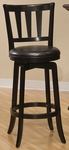 Presque Isle Wood 25.5'' Counter Height Stool with Black Vinyl Swivel Seat - Black [4478-826-FS-HILL]