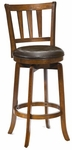 Presque Isle Wood 25.5'' Counter Height Stool with Brown Vinyl Swivel Seat - Cherry [4478-827-FS-HILL]