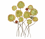 Bronze Pressed Oil Rubbed Metal Flowers 30''H Wall Decor - Multicolor [2184-FS-PAS]