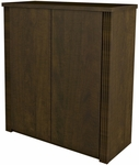 Prestige + 2-Door Cabinet with Shelving - Chocolate [99510-1169-FS-BS]