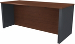 Prestige + Executive Desk with Modesty Panel and Wire Management - Bordeaux and Graphite [99400-1139-FS-BS]
