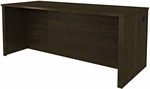 Prestige + Executive Desk with Modesty Panel and Wire Management - Chocolate [99400-1169-FS-BS]