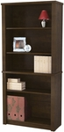 Prestige + Modular 5 Shelf Bookcase with Adjustable Shelves - Chocolate [99700-1169-FS-BS]